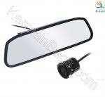 آینه خودرو مانیتور دار 4.3 اینچ با دو ورودی دوربین و دوربین دنده عقب دید در شب خودرو