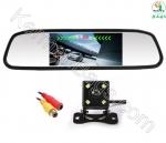 آینه مانیتور دار 7 اینچ با دو دوربین جلو و دنده عقب خودرو جدید