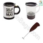 باندل چایی و قهوه و شیر کف ساز مسافرتی خودرو بسته 3 عددی